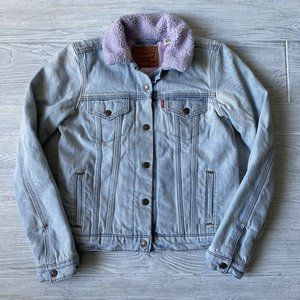Levis Trucker quilted linear Jean Jacket Womens S